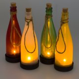 Lampe s'arrêtante solaire attrayante de la forme DEL de bouteille de vin d'horizontal solaire