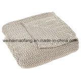 Couverture pure en arête de poisson tissée de coton