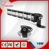 Adjustable Brackets를 가진 최고 Slim Powerful 18W LED Light Bar