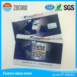 Cartão do espaço livre do cartão do cartão da identificação do PVC do plástico