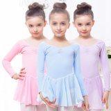 Plain 92% Coton 8 Spandex Girls Dancing Dress Leotard