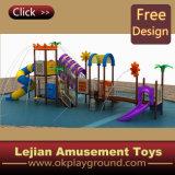 1176 2014 passionnante d'attractions en plastique pour enfants Aire de jeux extérieure