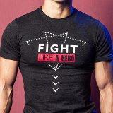 T-shirts secs de gymnastique d'ajustement d'impression d'hommes