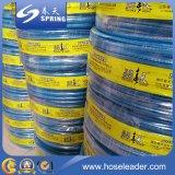 Boyau de jardin flexible de PVC de fibre de surface lisse