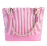O saco de compra novo do saco da praia da lona do verão fêmea novo do saco