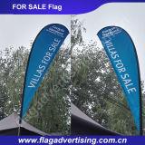 Indicador de playa de encargo de la publicidad al aire libre, indicador que vuela, indicador de la lágrima