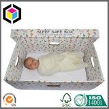 Cadre sûr de sommeil de couvercle d'OEM de couleur de bébé ondulé détachable d'impression