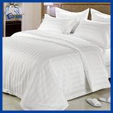 Fundamento branco confortável da listra do algodão ajustado (QHAD88943)