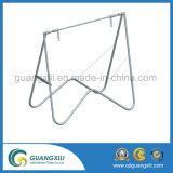 Frame galvanizado preto ao ar livre do sinal do balanço da tubulação de aço