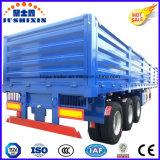 대량 화물 수송기를 위한 3개의 차축 옆 널 또는 찬장 또는 벽 옆 트럭 실용적인 트레일러