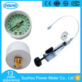 manometro medico acciaio bianco/nero di 40mm/custodia in plastica