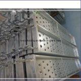 Tarjeta del andamio de acero del tablón del precio de Factroy/tablón del metal que recorren