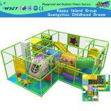 Castelo impertinente interno com o campo de jogos interno da corrediça plástica (MH-05608)