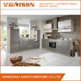 Gabinete de cozinha branco modular da laca de India