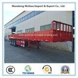 高品質の貨物トレーラー、在庫の平面容器のトレーラー