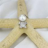 Snhの銀が付いているかわいい女の子の自然な淡水の真珠のペンダント