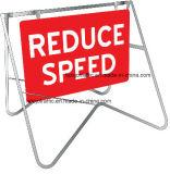 Peduce velocidade Movable Outdoor Worksite balanço stand Registe Board
