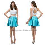 Frauen zwei Stücke, die Chiffon- Abend-Partei-Abschlussball-Kleid bördeln