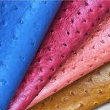 PU-synthetisches Leder im Strauß-Druck für Polsterung, Handtaschen-Gewebe