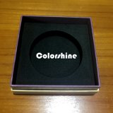 Rectángulo de regalo púrpura del embalaje del papel de la vela de la alta calidad