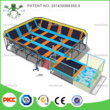 Grand Square Customized Size Gymnastic Olympic Used Cheap Kid Trampoline Park à vendre