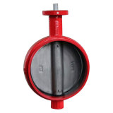 Grooved клапан-бабочка конца с оператором рукоятки
