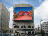 Fissi esterni installano la visualizzazione di LED di colore completo P10 per fare pubblicità
