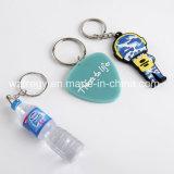 Borracha macia personalizada Keychain do PVC Keychain