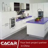 Gabinete de cozinha à moda da laca do verniz do Stoving da forma violeta (CAIK-06)