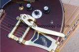 Guitarra elétrica do corpo vermelho feito sob encomenda do Claret com ferragem dourada (TJ-233)