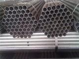 Alta cuerda de rosca suave del carbón del galvanizado de la buena calidad galvanizada alrededor del tubo con los casquillos azules