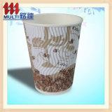 Heiße Wegwerfkaffeetasse mit Kappen-Griff