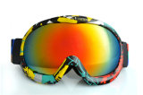 Óculos de proteção dobro esféricos do esqui de Eyewear da neve clara da lente do PC