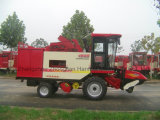 Máquina de 4 ceifeira de milho das fileiras para a colheita da orelha de milho