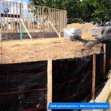 Barrière en gros de frontière de sécurité de vase de tissu tissée par pp de noir