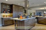 Umweltfreundliche Melamin-Küche mit hölzernem Korn-Furnier-Blatt (WH-D570)