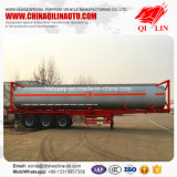 Wahlweise freigestellter 40FT Behälter-chemischer Flüssigkeit-Tanker-Schlussteil der Kapazitäts-