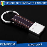 卸し売り高品質の昇進のギフトの金属カスタム革Keychain