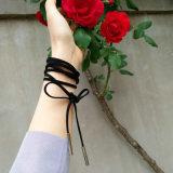 Collana di cuoio nera lunga 164cm (65in) del Choker dei monili di modo di DIY