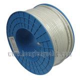75 câble coaxial de liaison de la télécommunication CATV rf Rg11 d'ohm de Tri-Bouclier extérieur de baisse