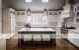 U様式の純木の白いシェーカーの食器棚(WH-D834)