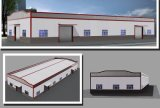 Estructura de acero prefabricada y taller porta del marco (KXD-SSW155)