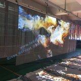 Affichage à LED En verre transparent extérieur d'intérieur de rideau en étape P5