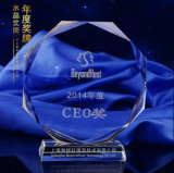 Gravierte Preis-Trophäe des Kristallglas-K9 Stern für Fertigkeit