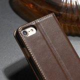 贅沢な革フリップベルトクリップが付いているユニバーサル札入れの革箱