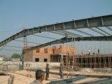 美しいプレハブの鉄骨構造の倉庫