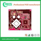 Rode Witte PCB Silkscreen Gouden Fingers&Enig van de Inkt