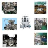 Pommes chips de casse-croûte d'anacarde pesant la machine à emballer verticale