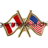 Metal American Canada Royaume-Uni Country Souvenir Flag Pin