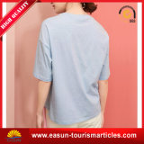 Venta al por mayor llana con estilo de la camiseta de bambú en blanco